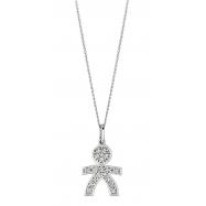 Diamond boy necklace