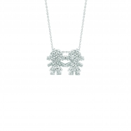 Diamond 2 girls necklace