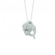 Diamond dolphin necklace