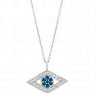 Diamond & sapphire eye necklace