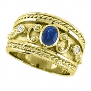 Byzantine Sapphire & Diamond ring