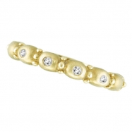 Diamond Bubble Ring, 14K Yellow Gold