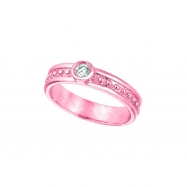 Diamond Solitaire Ring, 14K Pink Gold