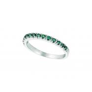 Blue Diamond Stackable Ring, 14K White Gold