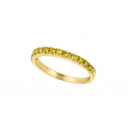 Yellow Diamond Stackable Ring, 14K Yellow Gold