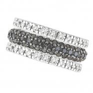 Black Diamond Eternity Ring, 14K White Gold