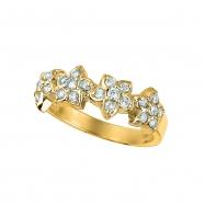 4 Flowers diamond ring