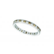 Champagne & white diamond eternity band