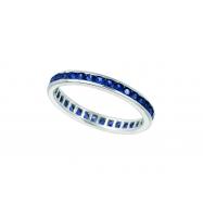 All around sapphire ring