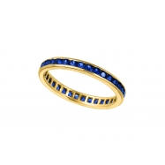 Yellow gold all around sapphire ring