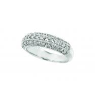 Diamond Fashion Ring, 14K White Gold