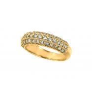 Diamond Fashion Ring, 14K Yellow Gold