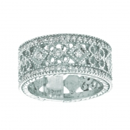 Diamond Eternity Ring Band White Gold