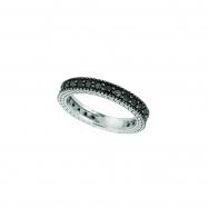 Black Diamond Eternity Ring 14K White Gold