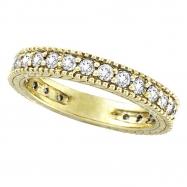 Diamond Eternity Band Ring Yellow Gold