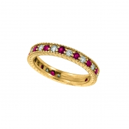 Diamond and Ruby Ring Band