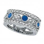 Sapphire Eternity and Diamond Ring Band