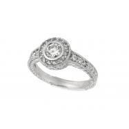 Diamond Bezel Ring 14K Yellow Gold