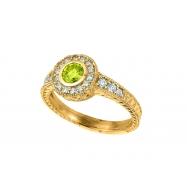Yellow Diamond Bezel Ring 14K Yellow Gold