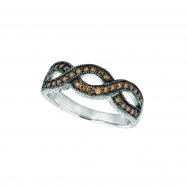 Champagne diamond twisted ring