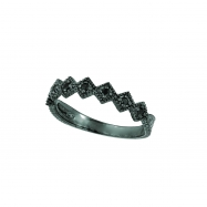 Black diamond stack ring