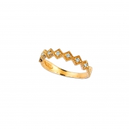 Yellow gold diamond stack ring