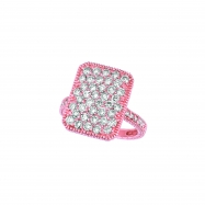 Diamond rectangular shape ring
