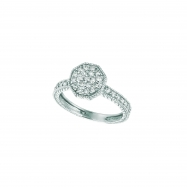 Diamond octagonal shape ring