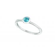 Blue topaz bezel set ring