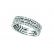 Diamond 3 rows ring