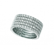 Diamond 5 rows ring