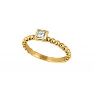 Princess cut diamond bezel set ring