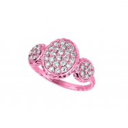 Diamond oval & round shape ring