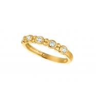 Diamond bezel set ring