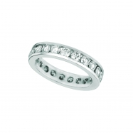 Diamond eternity channel band
