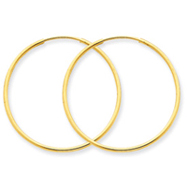 14K Gold 1X40mm Endless Hoop Earring