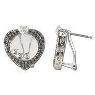 Black White Diamond Earring