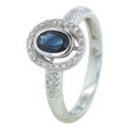 Sappire Diamond Ring