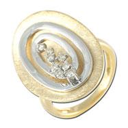 14K Two-Tone Gold Diamond Ring