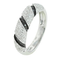Black White Diamond Ring