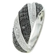 Black White Diamond Ring