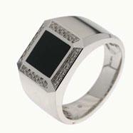 Onyx Diamond Ring