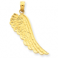 14K Angel Wing Pendant