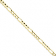 10k Light Figaro Chain bracelet