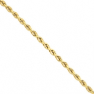 14k 7mm D/C Rope with Barrel Clasp Chain