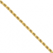14k 8mm D/C Rope with Barrel Clasp Chain