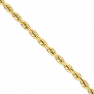 14k 10mm D/C Rope with Barrel Clasp Chain
