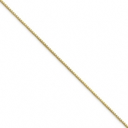 10k .90mm Box Chain bracelet