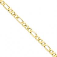 10k Light Figaro Chain bracelet