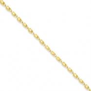 10k 3mm Marquise  Chain bracelet
